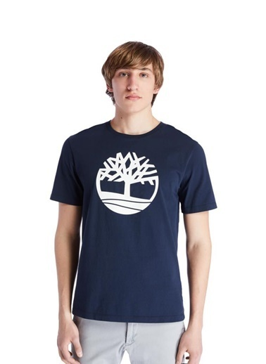 Timberland Timberland SS Kennebec River Tree Logo Tee Erkek Tişört  Lacivert Lacivert